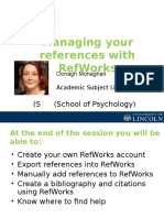 Introductory presentation on using Refworks