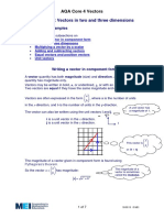 Vectors in Two & Three Dimensions