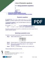Using Parametric Equations