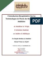 Terminologies Du Madhab Malekite