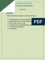 CLASE N°3  Codigo Minería parte 1 -2016