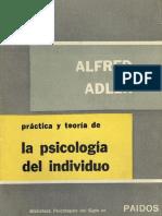 ADLER - Práctica y Teoría de La Psicología Del Individuo