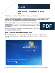 » How to Manually Repair Windows 7 Boot Loader Problems