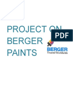 Assignment on Berger Paints