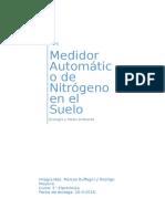 Practico N°1 de Ecologia - Medidor Automatico de Nitrogeno en los Suelos