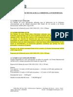 Especificaciones Técnicas de La Cobertura Autosoportada
