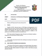 Reiteration Re Civil Disturbance Management (CDM) 01