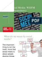 Social Media discussion at the Science Communication Unit meeting