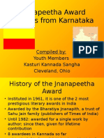 Jnanapeeta Award Winners From Karnataka