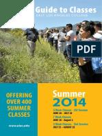 East LA College - 8.1 2014 Summer - Schedule