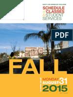 East LA College - 9.2 2015 Fall - Schedule
