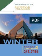 East LA College - 9.3 2016 Winter - Schedule