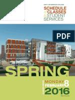 East LA College - 9.4 2016 Spring - Schedule