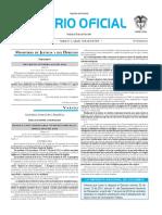 Diario oficial de Colombia n° 49.846. 16 de abril de 2016