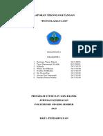Laporan Teknologi Pangan (Pembuatan Jam)