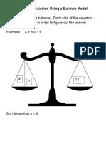 l10 solving equations using a balance model