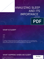 the importance of sleep  presentation