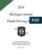 2014 Michigan Annual drunk driving audit