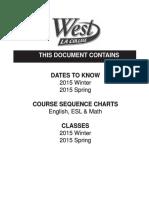 West LA College - 8.3 2015 Winter & 8.4 2015 Spring - Schedule