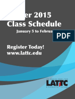 LA Trade Tech - 8.3 2015 Winter - Schedule