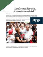 2016-05-10 Serrano Escobar afirma estar listo para el debate; ofrece becas, guarderías y apoyos en materia de salud a madres de familia