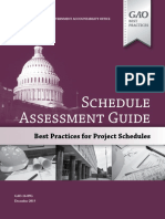 Schedule Assessment Guide - Best Practices for Project Schedules Dic15