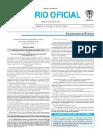 Diario oficial de Colombia n° 49.854. 24 de abril de 2016