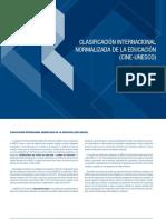 Clasificacion Internacional Normalizada de La Educacion Cine-unesco