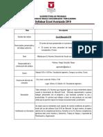 Syllabus - Excel Avanzado Curicó