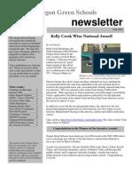 Oregon Green Schools Newsletter, Fall 2008, Kelly Creek Wins National Award
