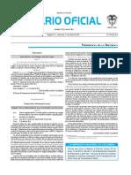 Diario oficial de Colombia n° 49.857. 27 de abril de 2016