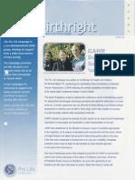 Pro Life Campaign Ireland Newsletter - Birthright Spring 2003