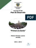 Plan Desarrollo 2012
