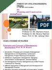 CE 401 Course Outline( Management Concepts and Human Factors) 17 Sept 2014 M M Hoque 2014 Final