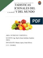 Estadisticas Nutricionales Del Peru y Del Mundo