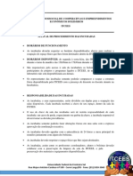 Manual de Procedimentos de Trabalho Na Incubadora; Incubadas