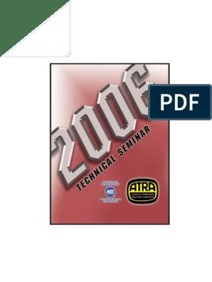 ATRA Seminar Manual 2006 pdf | Pontiac | Chevrolet