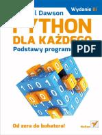 Dawson M. - Python Dla Każdego. Podstawy Programowania. Wydanie III