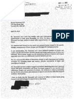 Letter fom Jian Ghomeshi's therapist