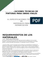 Especificaciones Tecnicas de Pinturas Para Obras Vialesricardoponce