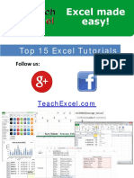 Top 15 Excel Tutorials