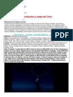 Propuesta General Circulo Artes Escénicas