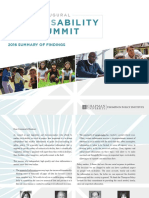 Inaugural Disability Summit Report
