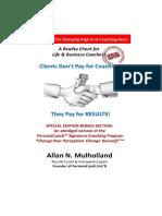 Clients Dont Pay for Coaching - RCM PDF Version 2016