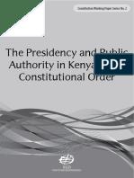 The Presidency & the Public Authority