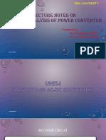 Analysis of Power Converters