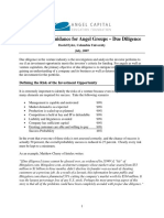 Acef Best Practices Due Diligence