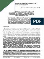 O Padrão Brasileiro de Intervenção Pública No Saneamento Básico.