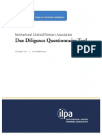 ILPA Due Diligence Questionnaire Tool