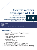 Electric Motors Developed at LIM